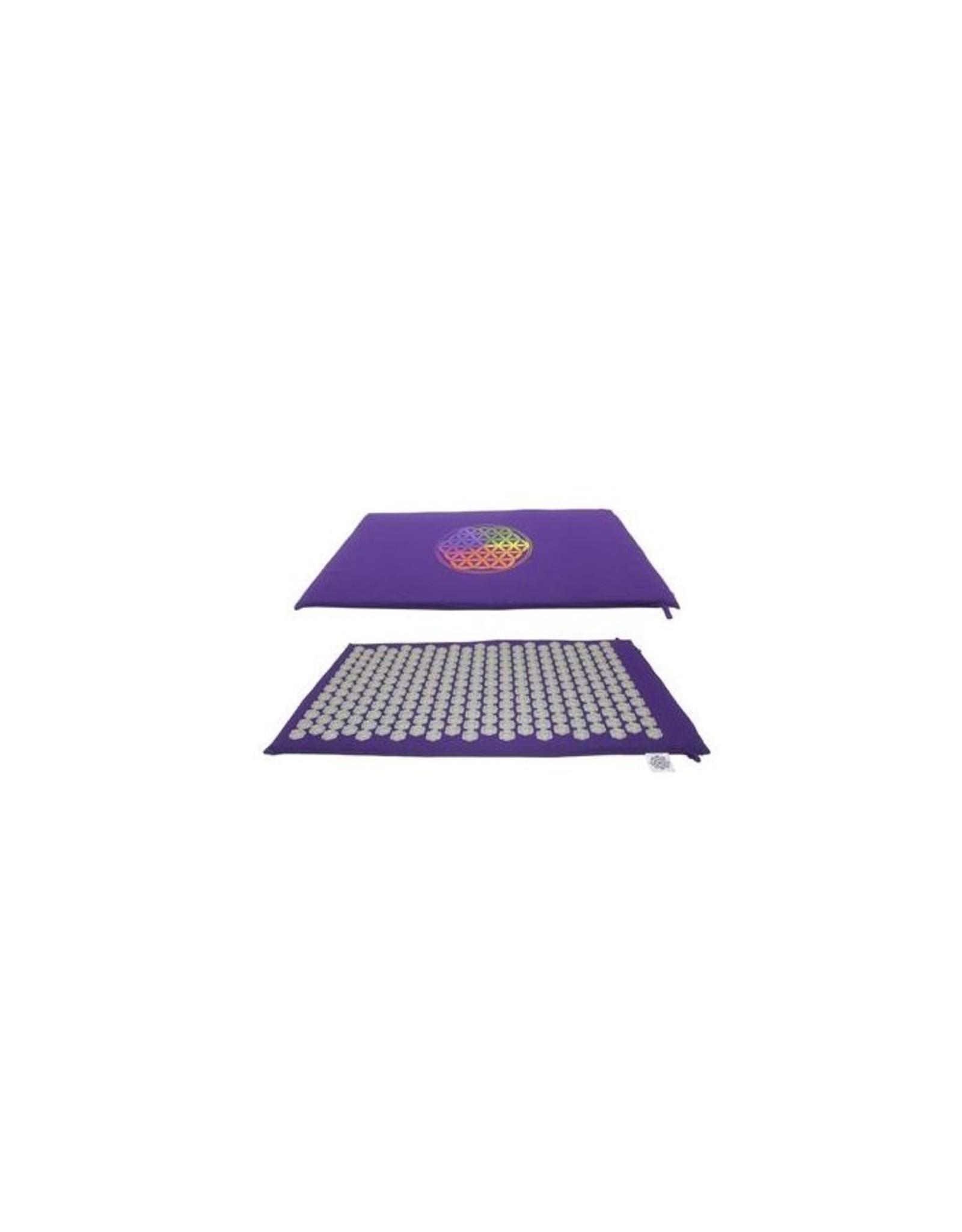 Acupressure flower mat