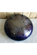 Steel tongue drum 22cm, Sri Yantra