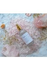 Mudra Body Care Elixir floral de rose au cristaux de quartz rose