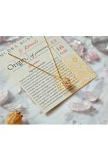 """Mudra Body Care 24K gold chain and Zircon pendant """"Immortal Wisdom"""""""