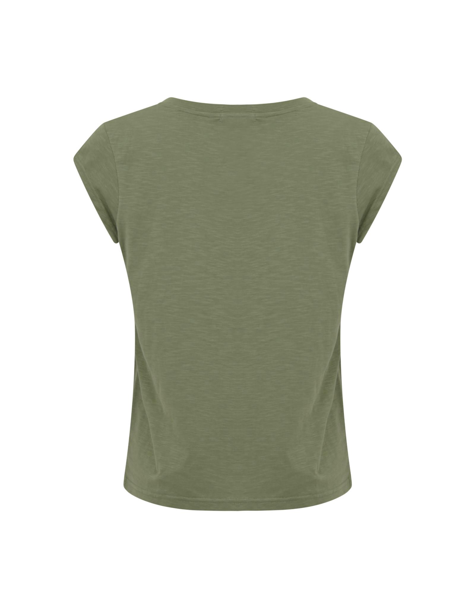 Coster Copenhagen T-shirt Flower green