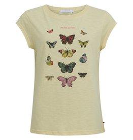 Coster Copenhagen T-shirt Butterfly Geel Coster