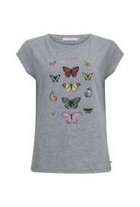 Coster Copenhagen T-shirt Butterfly Grijs