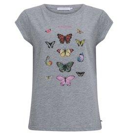 Coster Copenhagen T-shirt Butterfly Grijs Coster