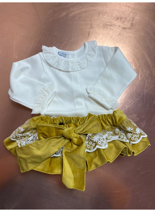 YELLOW VELVET TULE BLOOMER