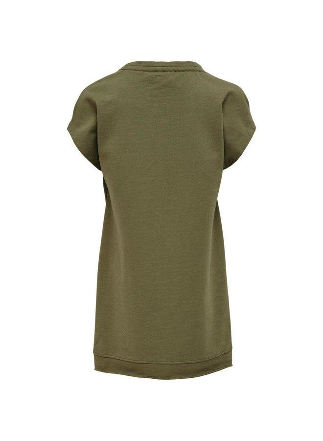 T-SHIRT DRESS BRANDY