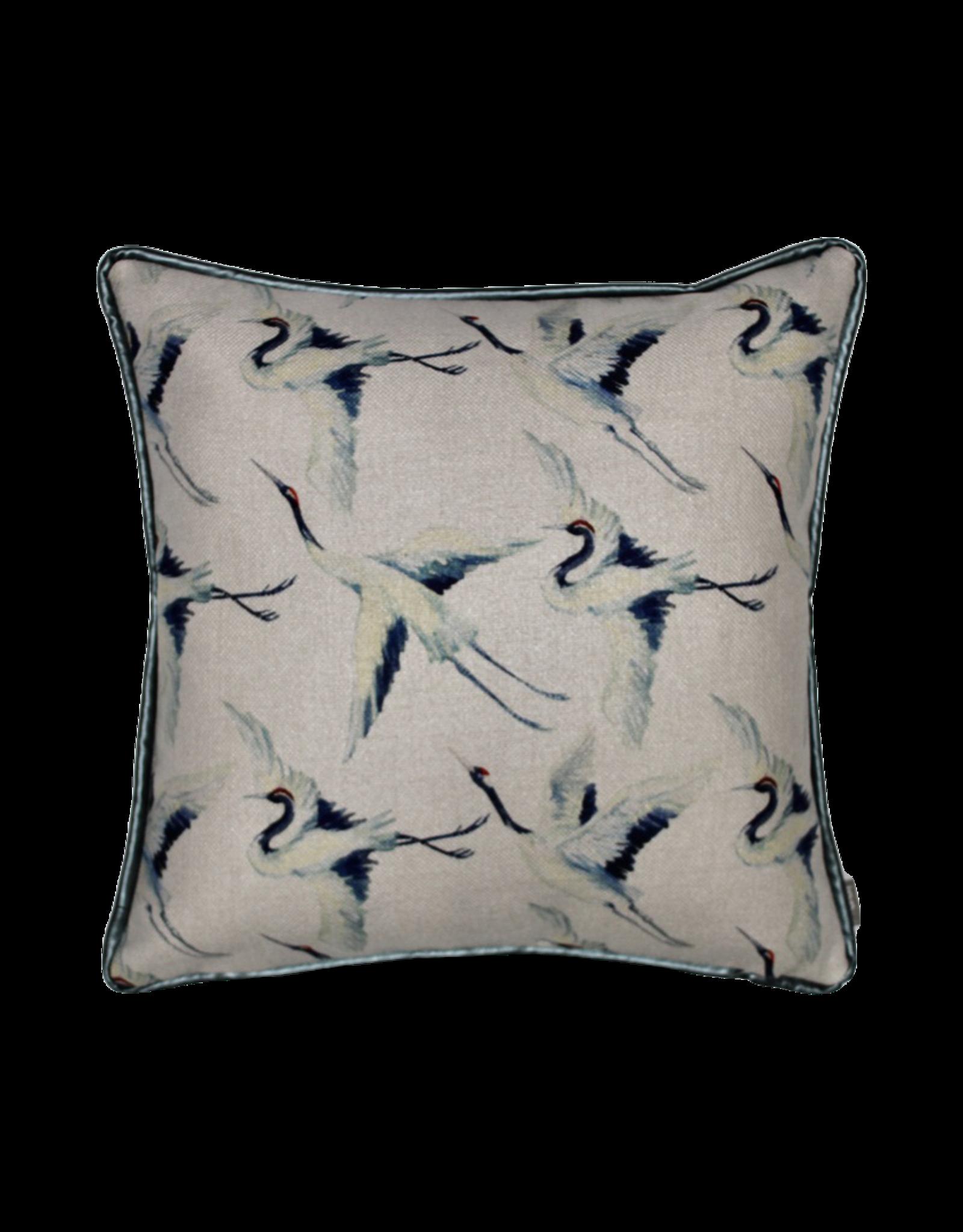 Kussen blauwe vogel 50 x 50