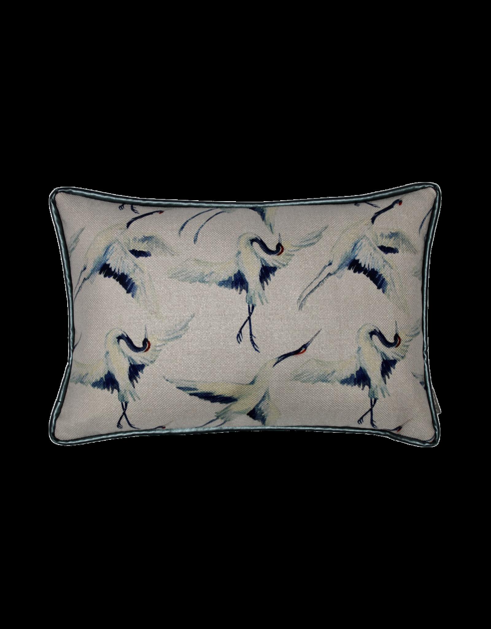 Kussen blauwe vogel 35 x 50