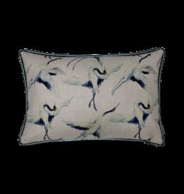 Kussen blauwe vogel rechthoek