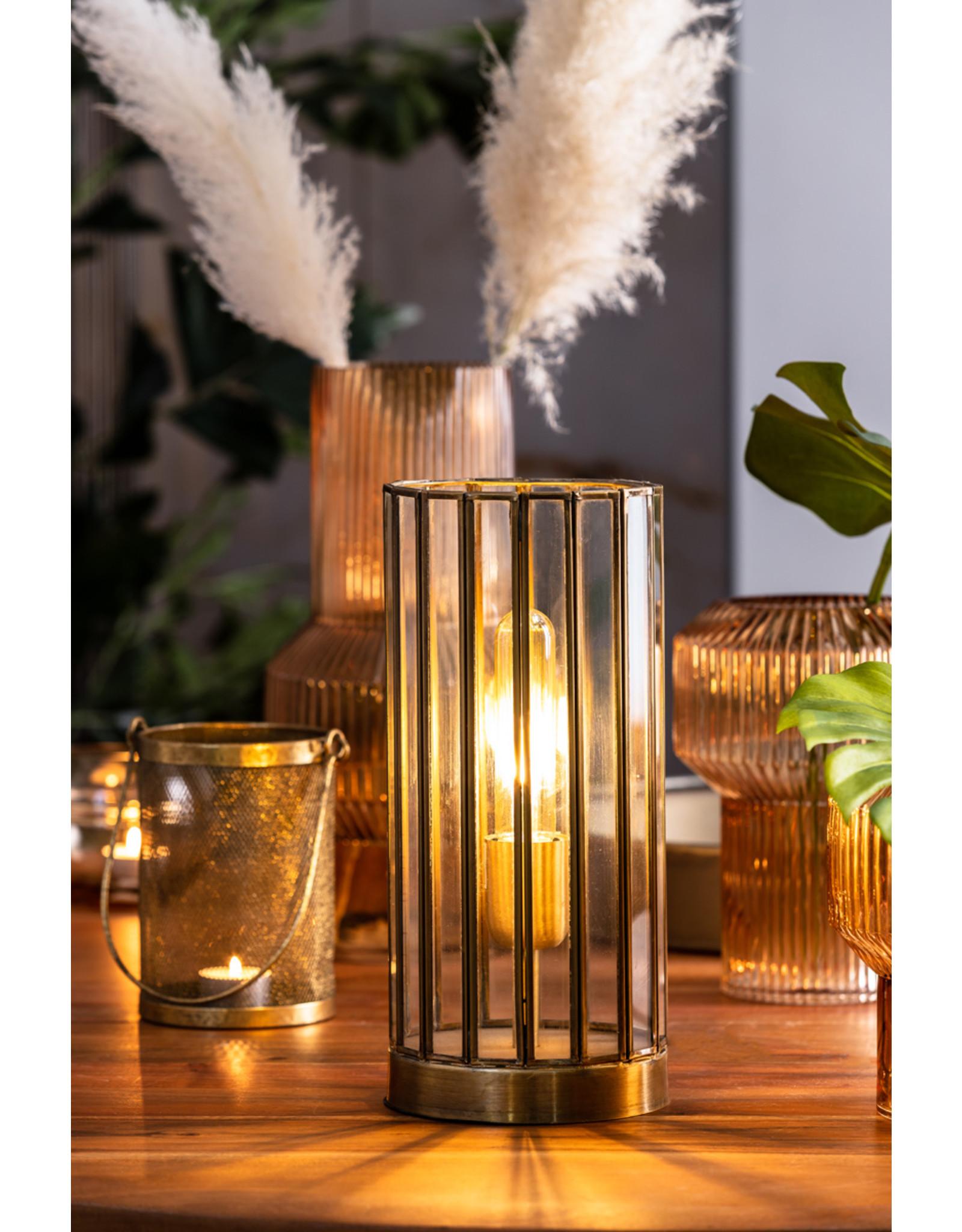 Tafellamp antiek brons
