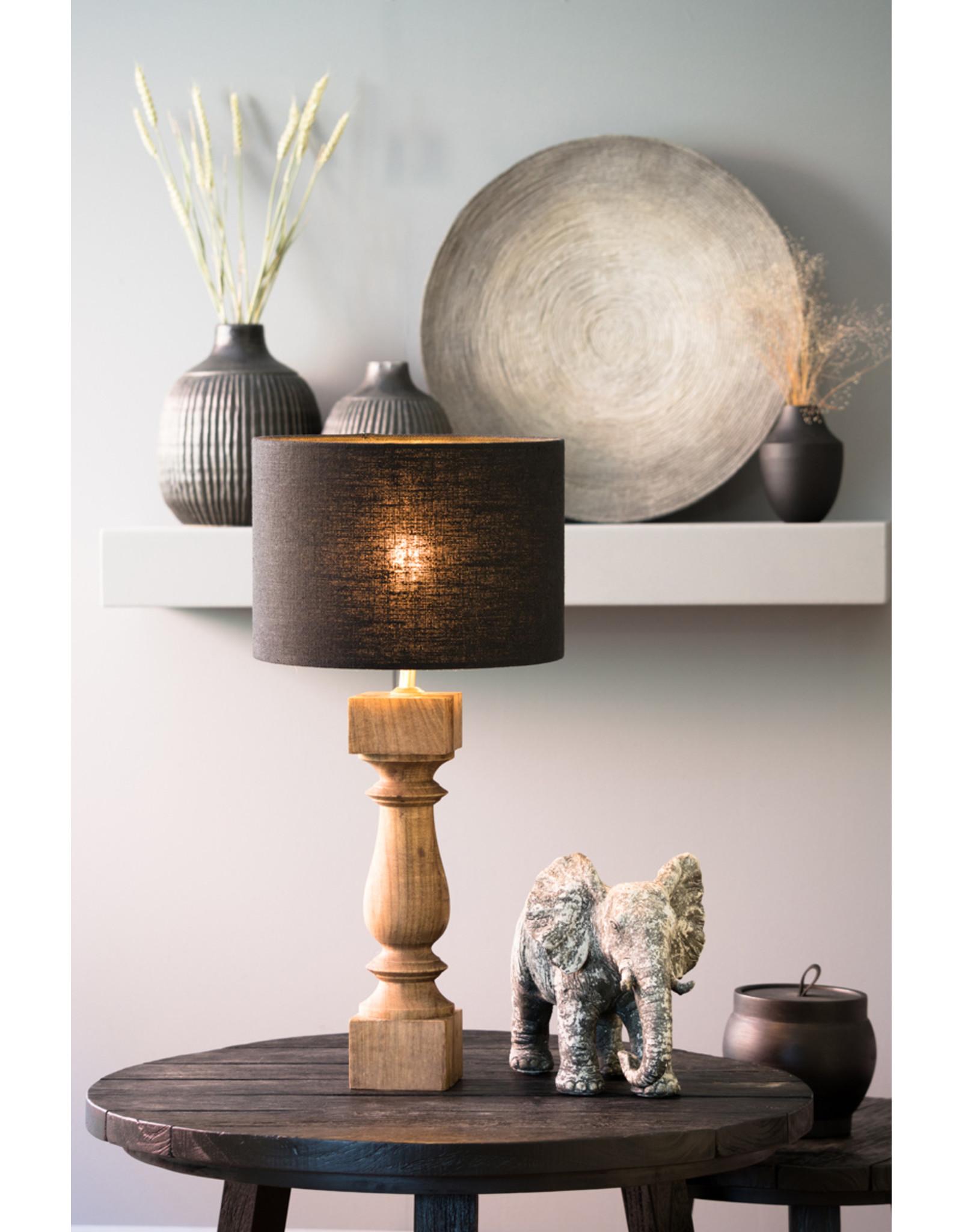 Lamp antiek brons - zwart