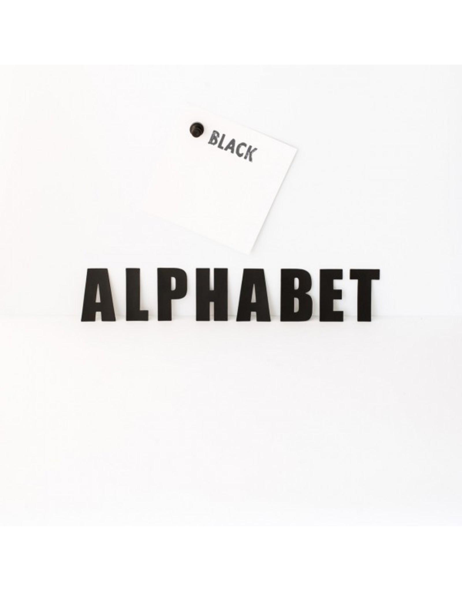 Magneetset alfabet zwart - 60 karakters