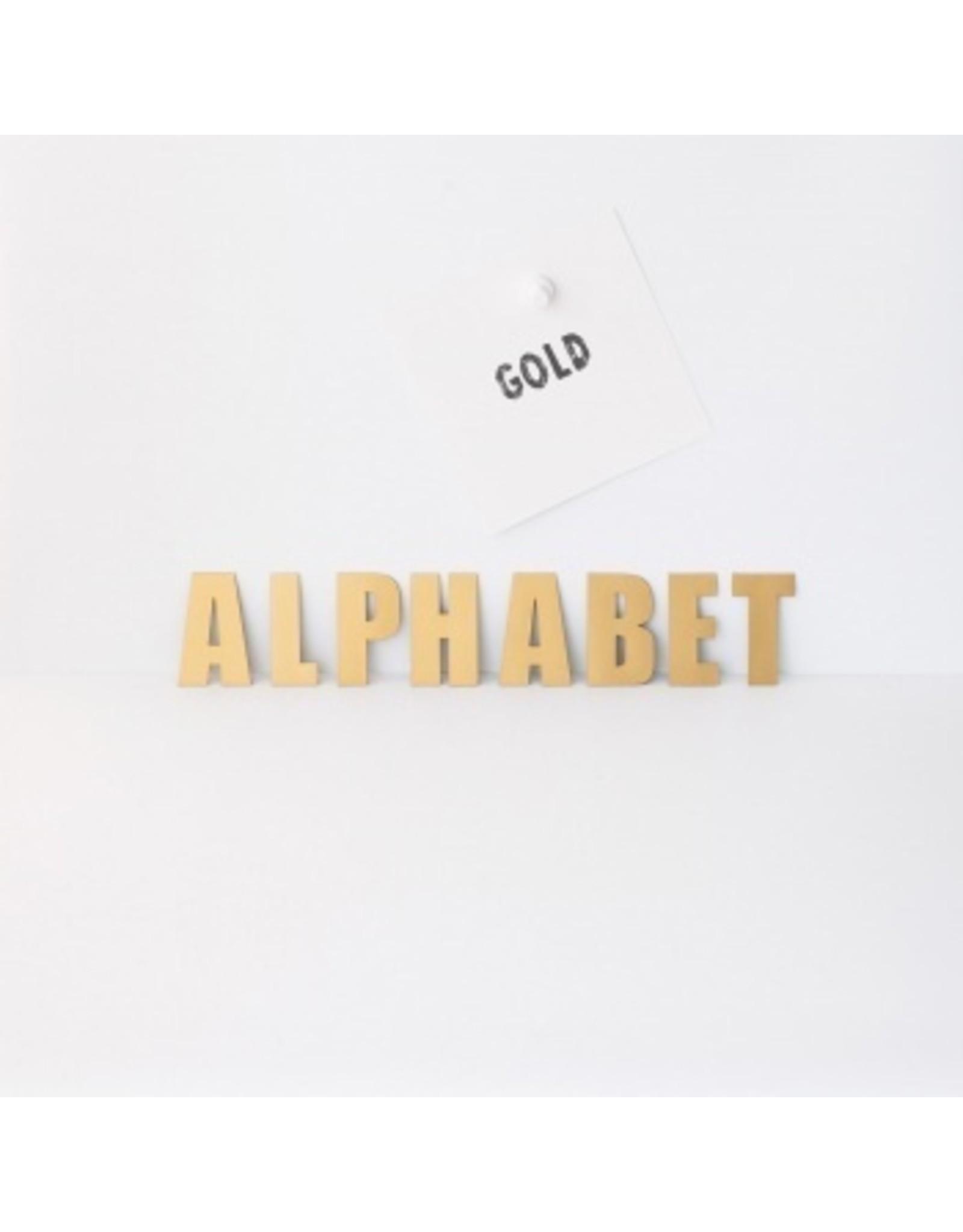 Magneetset alfabet goud - 60 karakters