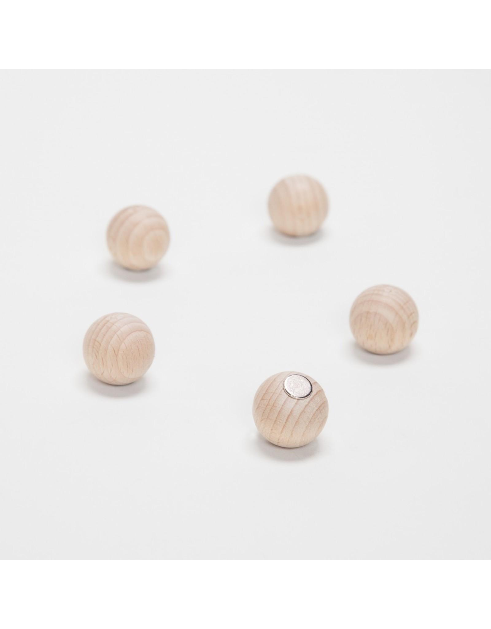 Magneten houten bol