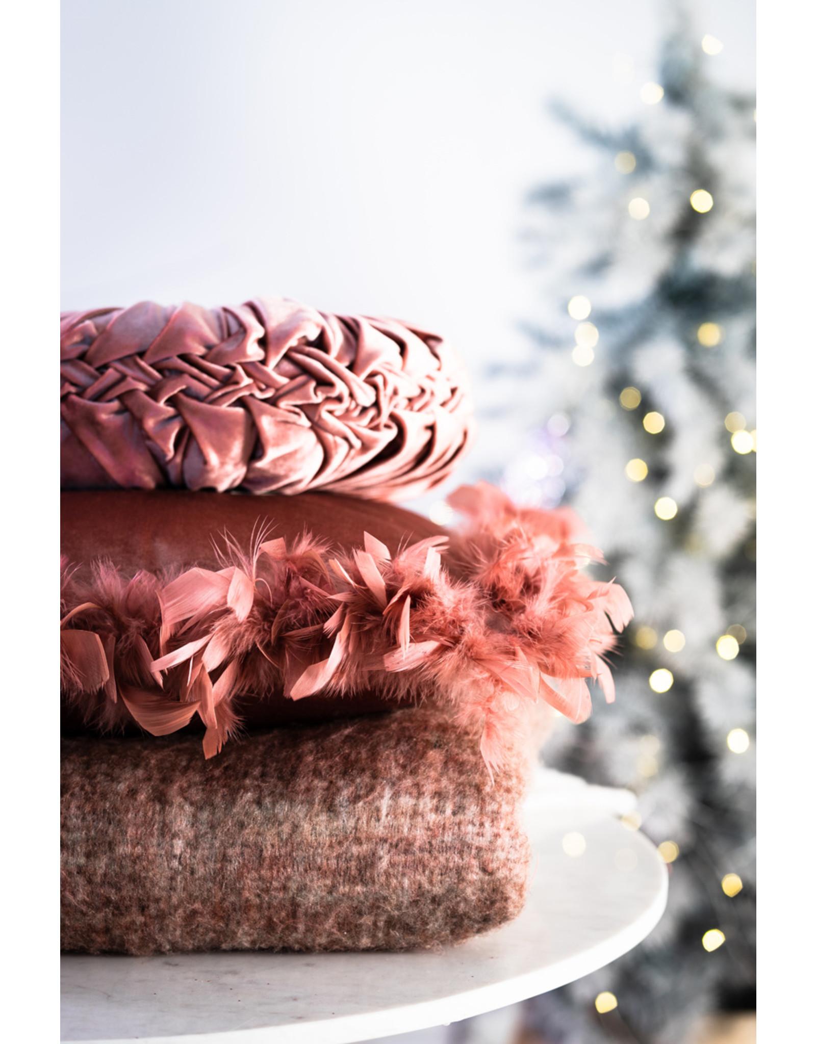 Plaid roze paars