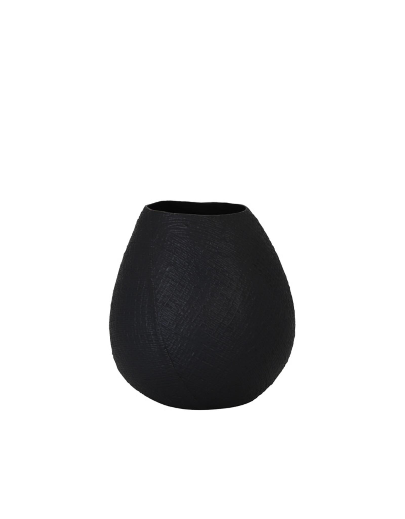 Vaas keramiek mat zwart