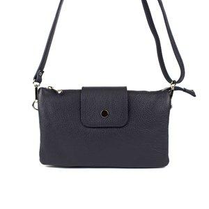 Donkerblauwe schoudertas / clutch