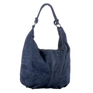 Suède shopper blauw