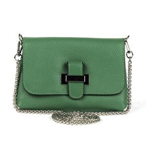 Groen schoudertasje met lus