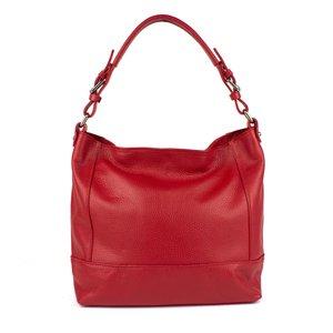 Rode leren tas met vlakken