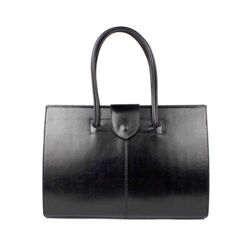 Zwarte business- schoudertas