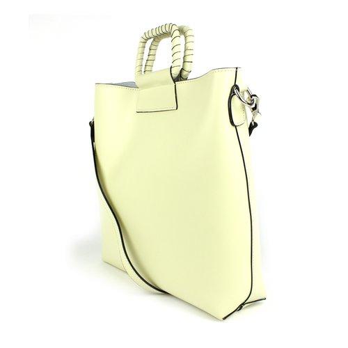 Pastelgele handtas / schoudertas: bag in bag
