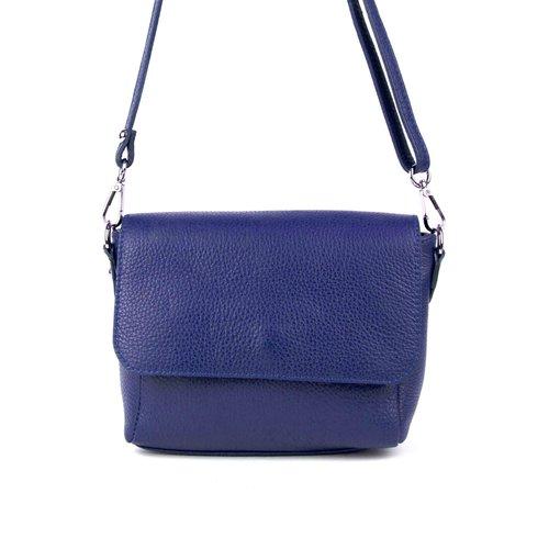 Blauw schoudertasje met overslag