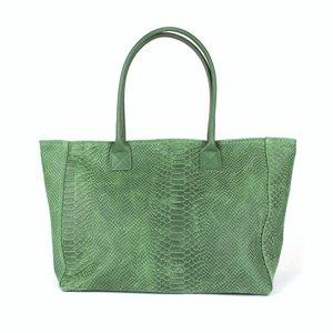 Groene shopper, slangenreliëf
