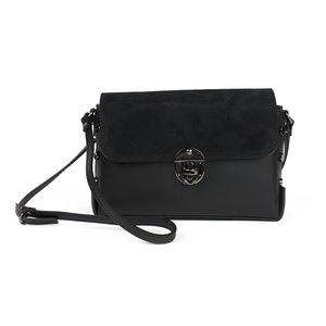Zwart schoudertasje met studs