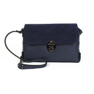 Donkerblauw schoudertasje met studs