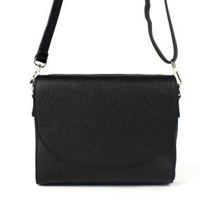 Zwarte schoudertas, driedelig