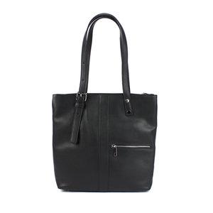 Zwarte, driedelige schoudertas