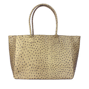 Taupe shopper struisvogel