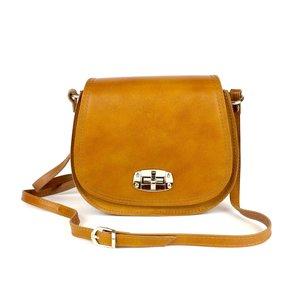 Honingkleurige saddle bag