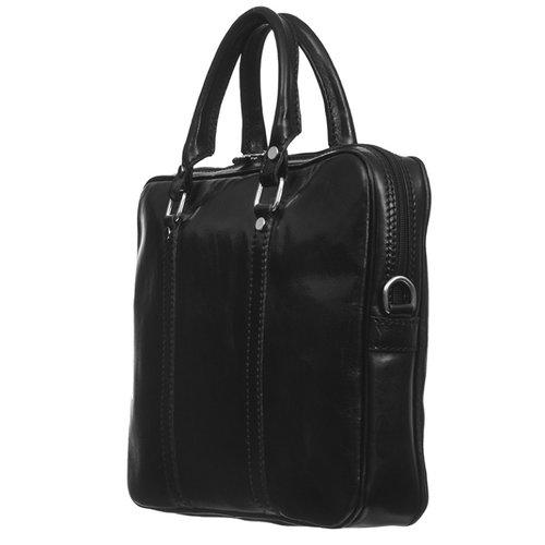 Zwarte leren (laptop) tas  / businesstas