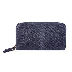 Donkerblauwe portemonnee slang