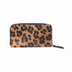 Leren portemonnee luipaard