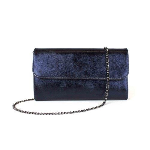 Antracietkleurige schouderketting voor je tas