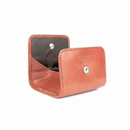 Cognackleurige, leren portemonnee voor muntgeld