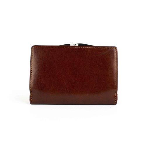 Bruine, leren dames portemonnee medium