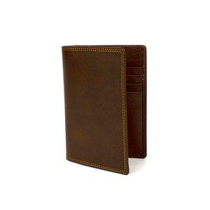 Bruin leren paspoortmapje