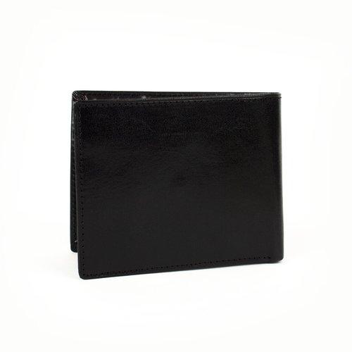 Leren heren portemonnee zwart