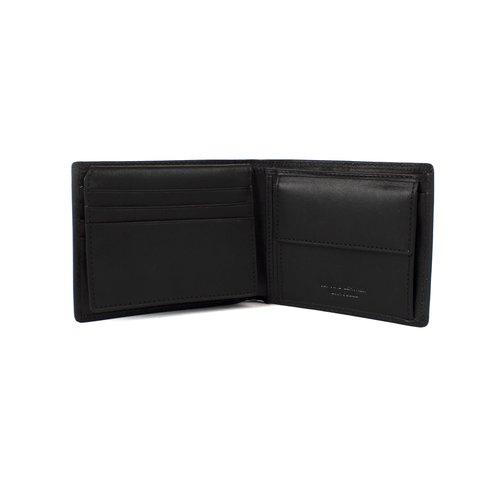 Heren portemonnee van mat zwart leer