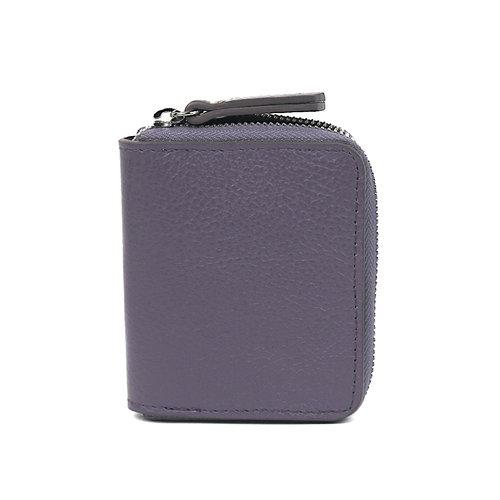 Rits-portemonneetje van lila leer