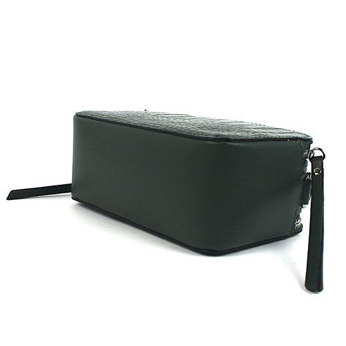 Box schoudertasje donkergroen leer