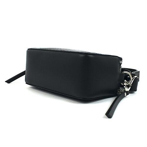 Box schoudertasje zwart leer