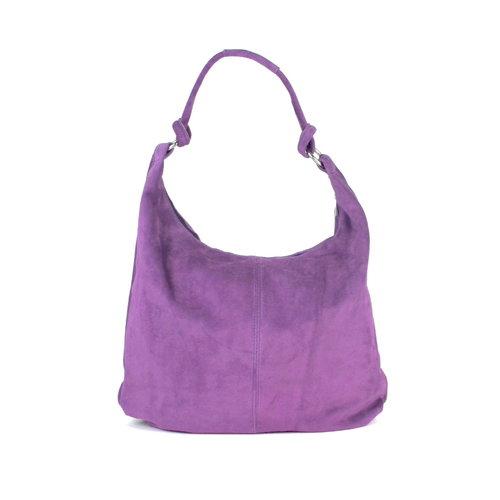 Suède hobo shopper in lila