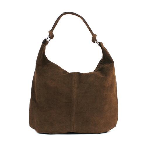Suède shopper bruin