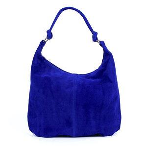 Suède shopper kobaltblauw: B-keus