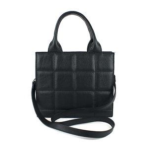 Zwarte handtas geblokt M